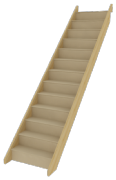 StairBox Straight Flight Staircase (Between Wall)